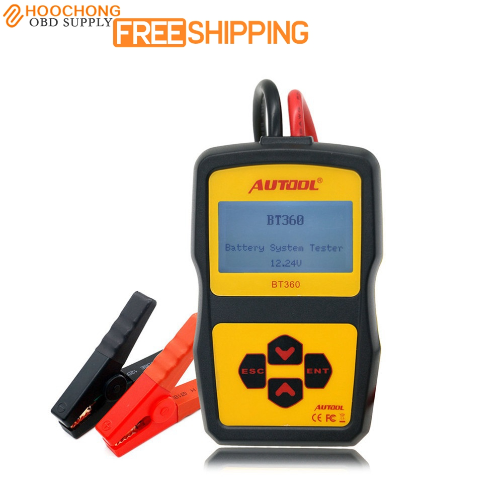 Best Autool BT-360 Battery Tester BT360 car battery tester BT 360 tester Updated from bst-100 battery tester цена и фото
