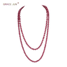 78b86254f Grace Jun Handmade ART DECO Fashion Faux Pearls Flapper Beads Cluster Long  Pearl Necklace for Women