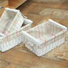 Красивая новинка бытовой Органайзер для хранения плетеные корзины