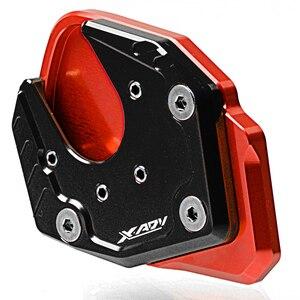 Image 2 - Для Honda X ADV CNC мотоциклетная боковая подставка для мотоцикла увеличенная подножка удлинитель для Honda XADV ampliar 2017 2018
