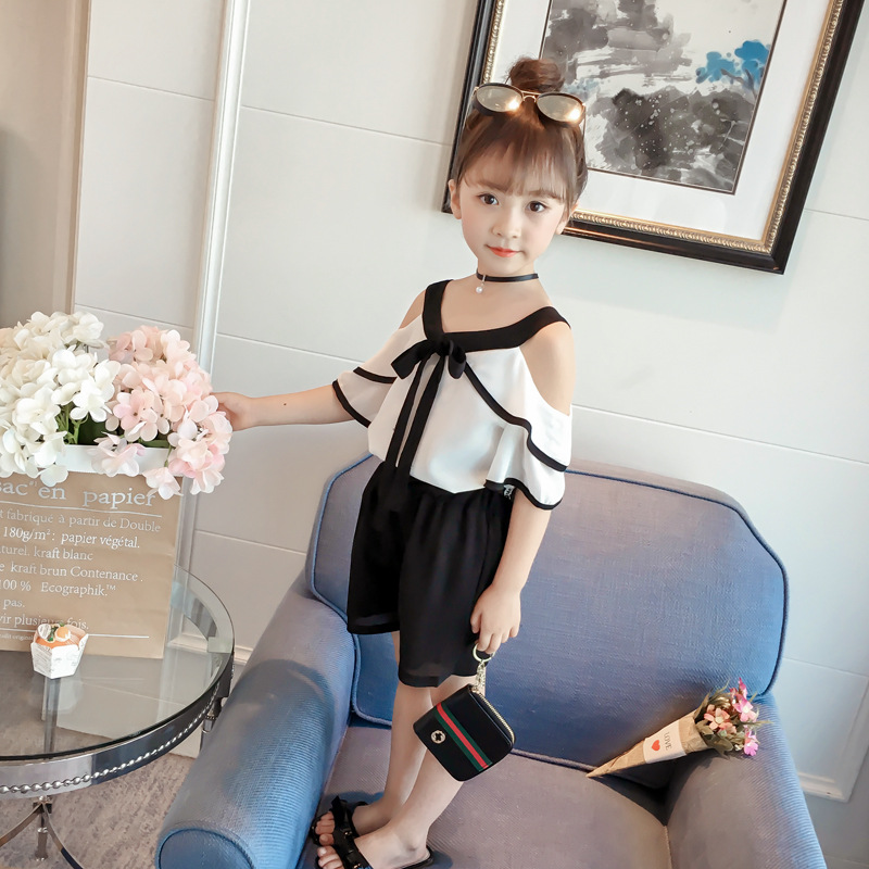 AiLe Rabbit Children s clothes girls suits summer vogue of new fund of 2018 han edition children summer two-piece XT373 girl 1b