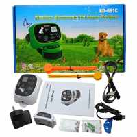 KPHRTEK KD-661C 防水充電式ワイヤレス電子ペットフェンスシステム 1/2 犬白グリーンドロップシッピング