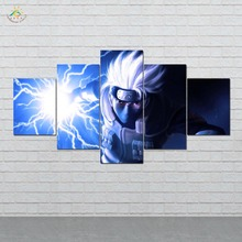 Anime Lightning Naruto Wall Art Canvas Painting Posters and Prints Decorative Picture Decoration Home For Living Room 5 PIECES