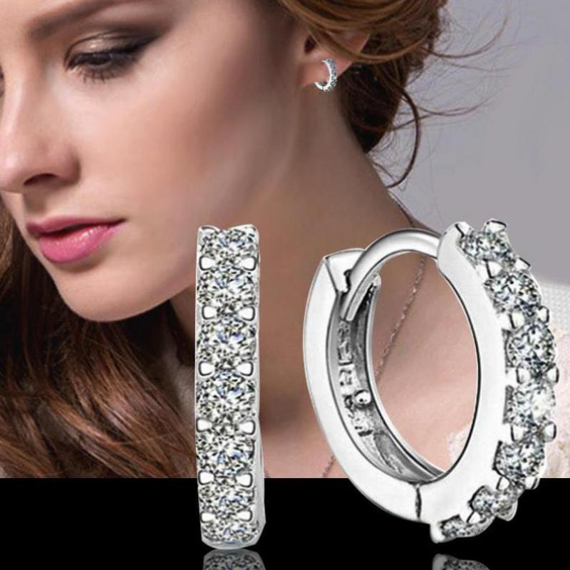 Crystal Earing Brincos Pendientes Mujer Earrings Stud Orecchini Oorbellen Women Jewelry Zircon Stud Earrings For Women Brinco