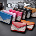 Patchwork PU Leather ID Credit Card Holder Magnetic Buckle Business Card Case RFID Wallet For Men and Women