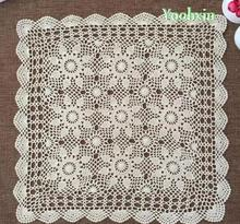 HOT Cotton Crochet tablecloth Table cloth towel doilies square set lace Tablecloth Covers nappe for home wedding decoration