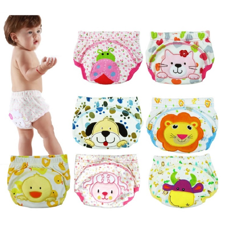 Hooyi Baby Nappies Washable Cloth Diaper Animal Newborn Training Pants Children Underpant Girls Panties Diaper Bag Cover