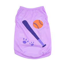 Breathable Vest Pet Baseball Style Baby Sleeveless Vest Shirt Pet Puppy Clothes Vest Shirt for Small medium Pet Dog(China)