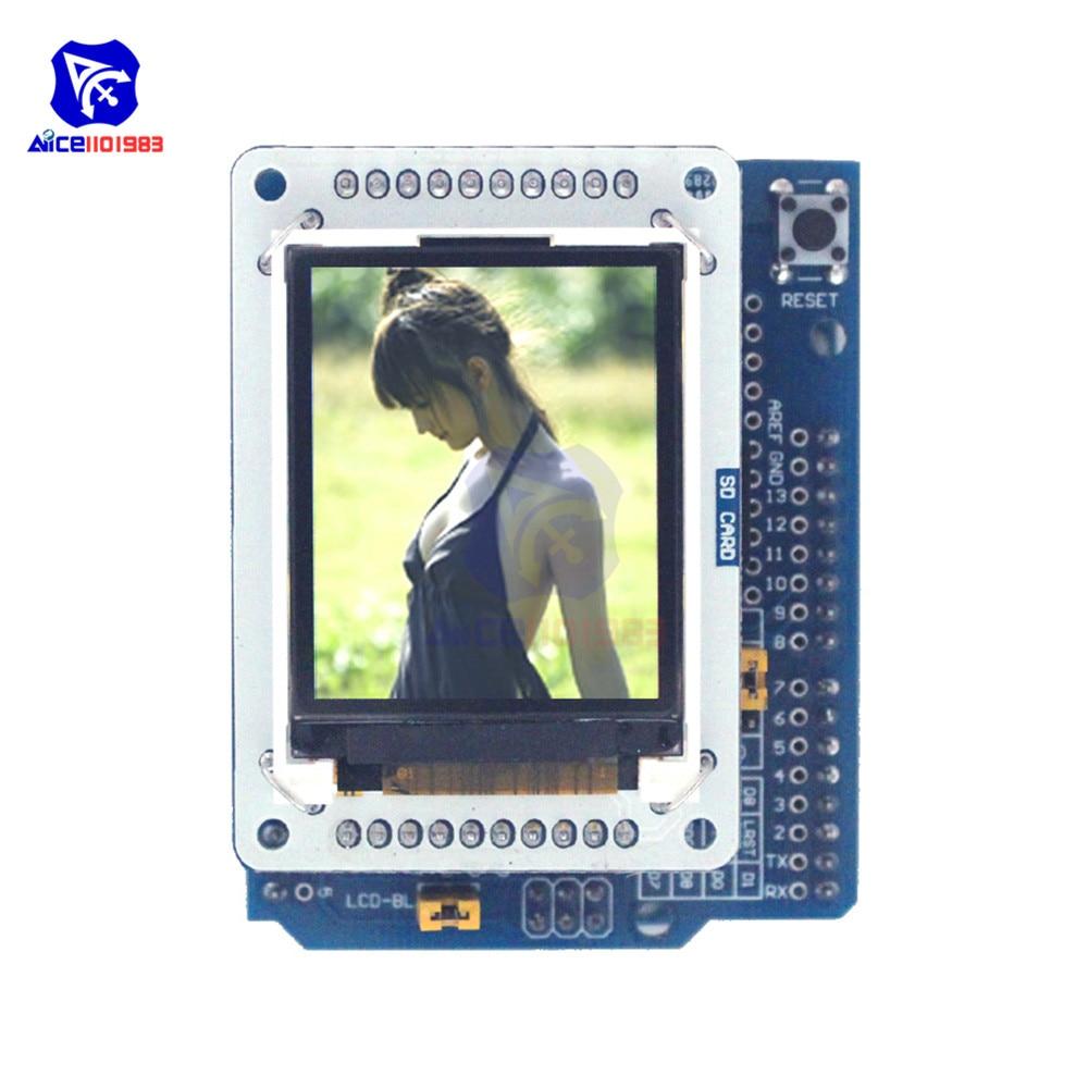 1.8 Inch TFT Full Color LCD Display Module With LCD Adapter Board Expansion Board For Arduino UNO R3 Leonardo Esplora