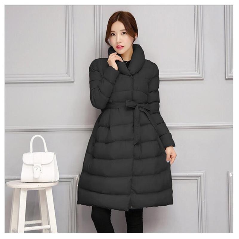 Adogirl 2017 Nouvelles Femmes De Mode D'hiver Vers Le Bas Vestes Long Manteau Chaud Slim Et Veste Femme Big Swing Dames Neige Outw
