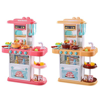1 Set Big Kitchen Toy Plastic Pretend Play Toy With Sound Light Kids Kitchen Cooking Toy Gift Play Food Children Toy Height 72cm