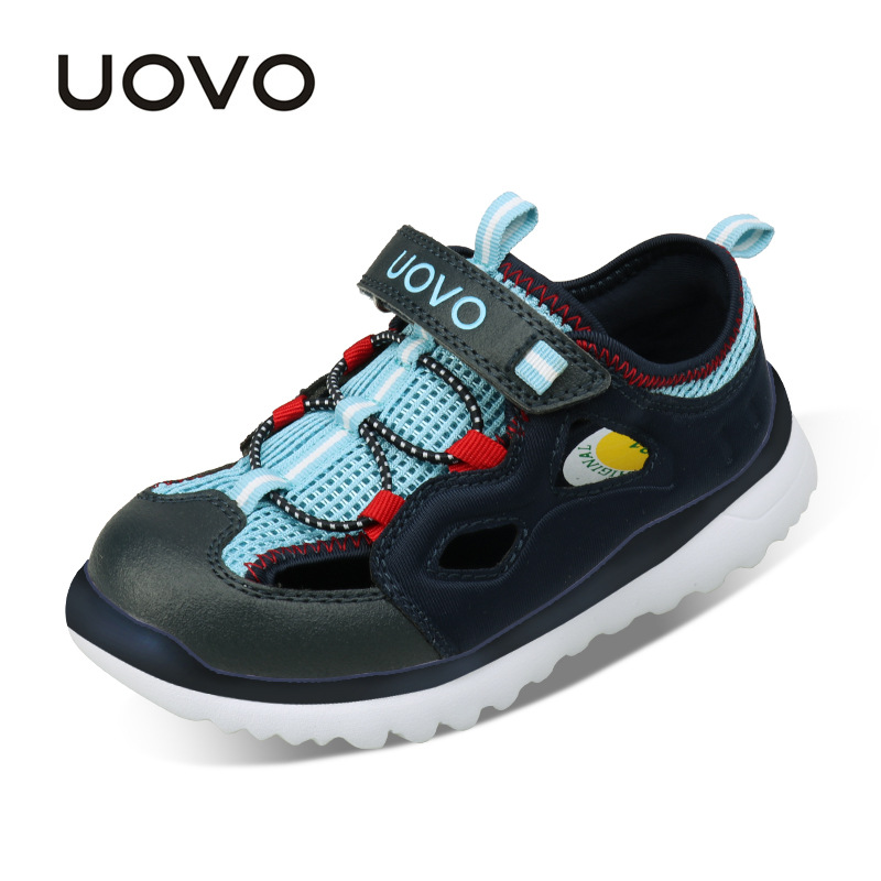 UOVO 2017 New Summer Kids Sport Shoes Girls Sandals Children Sneakers Closed Toe Boys Running Trainers EUR 28-37 # Light Weight hobibear classic sport kids shoes girls school sneakers fashion active shoes for boys trainers all season 26 37