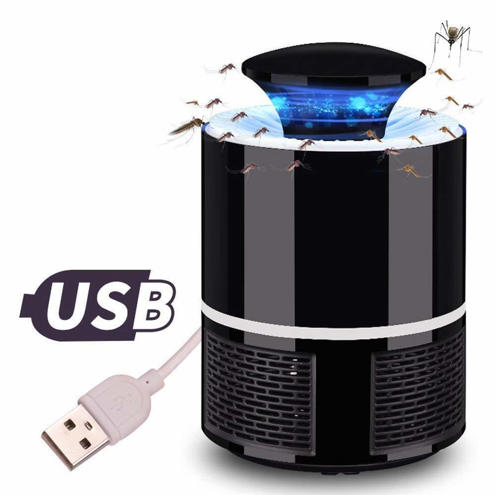 USB LED Electric Mosquito Killer Lamp Pest Control Fly Trap Bug Insect Repeller Zapper Built in Fan for Indoor Home Night Light