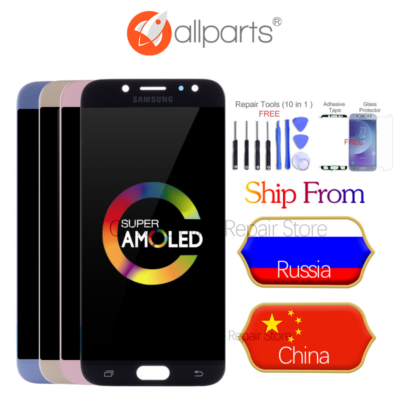 5.5 inch AMOLED Display For SAMSUNG Galaxy J7 Pro 2017 LCD J730 Display Touch Screen J730F for SAMSUNG J7 Pro Replacement Parts