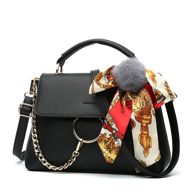 2017 Summer Women Fashion Tote Bag Korean Simple Sling Handbag With Bow And Scarf Decration Single