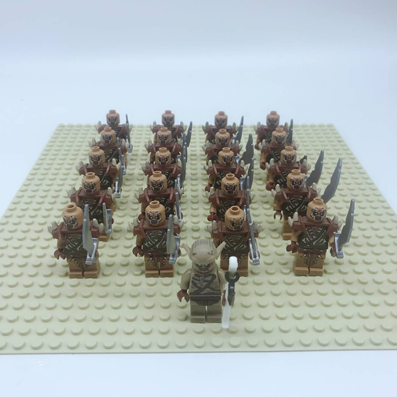 1leader+20pcs  Medieval Castle Knights The Lord of the Rings Blocks Brick Toy