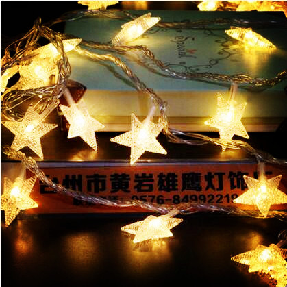 30M 신년 별 화환 LED Christams 조명 야외 출생 Garlands - 휴일 조명