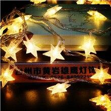 30M новогодние звезды Гарланд Светодиодные светильники Christams Lights Наружные настенные гирлянды Украшение светодиодных светильников Cristmas Stres Lights Luces De Navidad