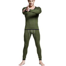 Brand Underwear Winter Mens Warm Thermal Add wool Long Johns Thermal Underwear Sets Thick Plus Velvet Long Johns Set