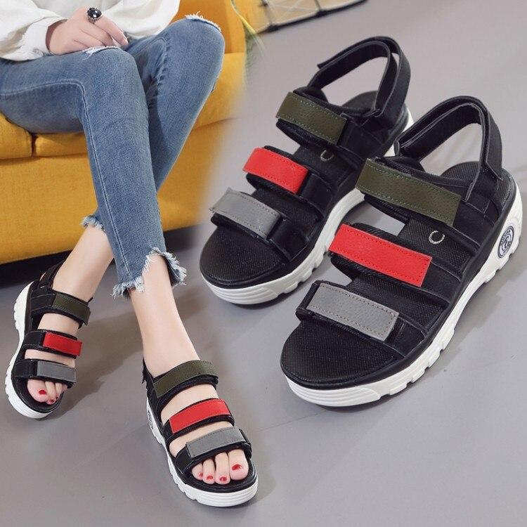 Summer Sandals Wedges Heel Platform Women Pumps Elevator Slip Resistance Women 2017 Summer Med High Heel Shoes phyanic 2017 summer women sandals platform wedges sandals hook
