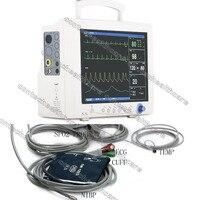 New CE&FDA ICU CCU Vital Sign Monitor ECG NIBP SPO2 TEMP RESP PR Patient Monitor