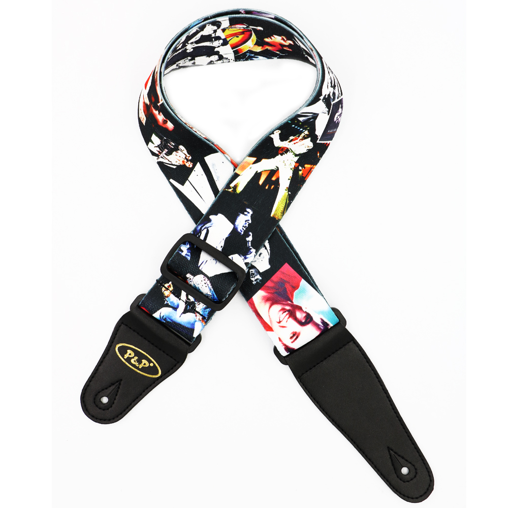 Elvis Presley Pattern Guitar Strap Electric Guitar Acoustic Guitar Folk Guitar Bass Strap warp knitting classical guitar strap acoustic electric guitar strap extreme well
