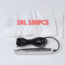 600D-G 100pcs 1RL Permanent Makeup Needles Eyebrow Lips Needle Disposable Sterilized Tattoo Needles