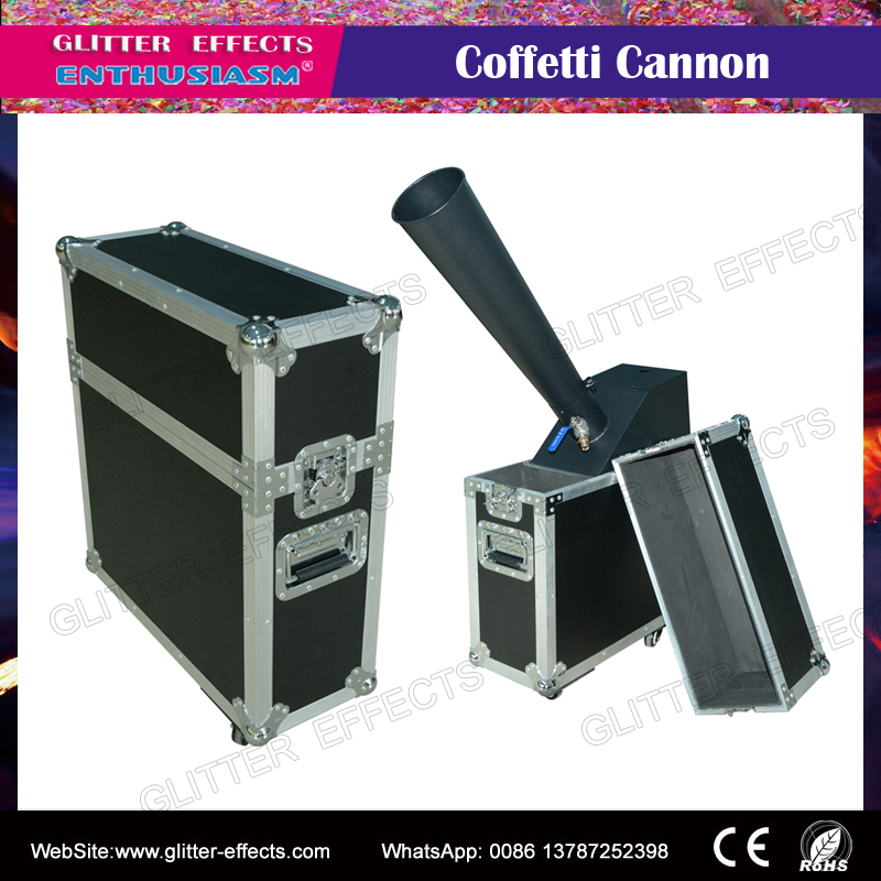 DJ stage special effect wedding party Mini small type confetti cannon launcher machine with hand control co2 blaster dj stage special effect wedding celebration mini color paper blower disco club bar small confetti cannon machine
