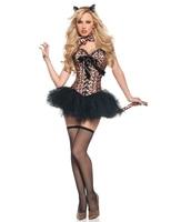 MOONIGHT Mujer Adulta de Halloween Disfraces de Carnaval Sexy Traje de Catwoman Cosplay Cat Fancy Dress