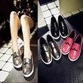 2015 Европа и Америка Круглым Носком Женщины Квартиры Одной Обуви Женщины PU mocassim zapatos mujer sapato feminino chaussure мокасины