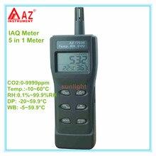 Compteur de CO2 portable détecteur de qai température de CO2. RH DP WB 5 en 1