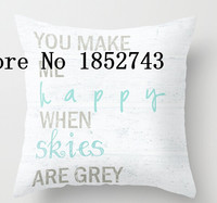 Hot sale cool YOU MAKE ME HAPPY (two sides) Pillow Cases for 12 ''14''16''18'' 20''24'' inch free shipping