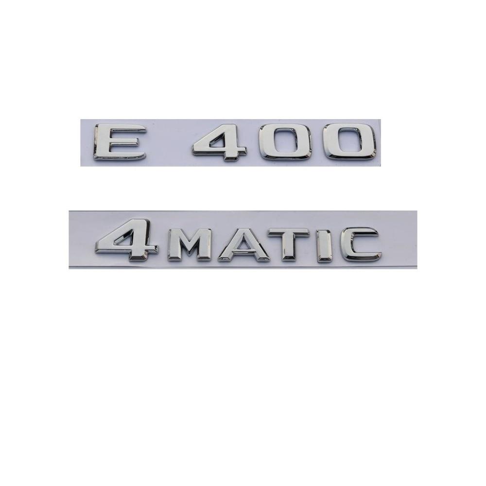 Car Trunk Rear Emblem Badge Chrome Letters For Mercedes 4-Matic 4Matic