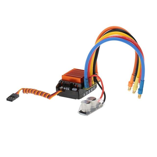 SkyRC 13.5 T 2590KV 2 P moteur sans balais sensuré + CS60 60A sans balais ESC + LED ensemble de cartes de programme pour voiture 1/10 1/12 RC