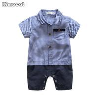 Kimocat Toddler Baby Rompers Summer Roupas Infant Jumpsuits Boy Clothing Sets Newborn Baby Clothes Cotton Baby