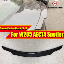 W205 2-door Coupe Trunk spoiler wing Carbon fiber C74 style Fits For MercedesMB C Class C180 C230 C250 wing Rear Spioler 2015-18 w205 c63amg carbon fiber trunk spoiler wing c74 style fits for mercedesmb c class 2 door c180 c200 c250 wing rear spoiler 15 18