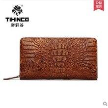 tihinco men handbag Crocodile  leather  men bag large capacity  new man real leather bag men clutches