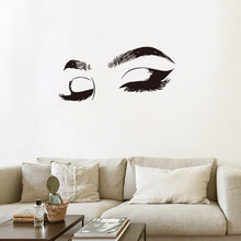 Dream home girl sexy eyelash eyebrow wall sticks DIY decorates sticker bedroom sitting room to stick