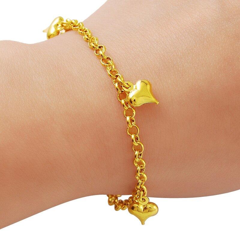 1eb4e59c6486 Haute Qualité Filles Mince 4mm Or Couleur Charme Bracelet Élégant Femmes  Bijoux Cadeau H071