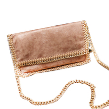 Fashion stella Soft Chain Trumpet Bag Upscale Leather Lady Envelope Bag Women Casual Messenger Bags Luxury Brand Shoulder Bags