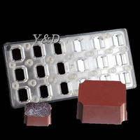 Rectangular Transparent Magnetic Polycarbonate PC Box Of Chocolate Molds Transfer Magnet Board Baking Candy Chocolate Mould