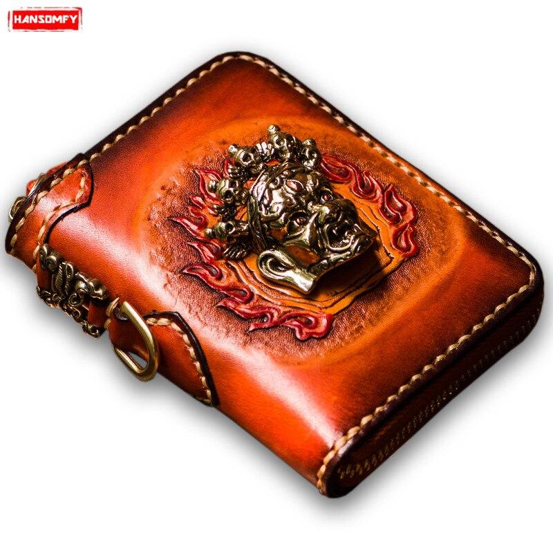 Мини кошелек мужской короткий кошелек на молнии Женский Ретро кошелек из натуральной кожи с отделением для карт сумка Кошельки для монет Ко