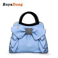 296e0f8ce652 RoyaDong 2018 брендовые сумки с короткими ручками женские сумки с бантом  цветы роскошные женские сумки через