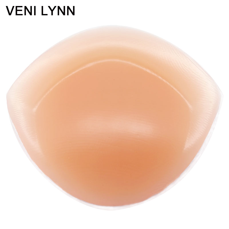 VENI LYNN 3cm Thick 265g/pair Soft Big Full Cup Silicone Inserts Clear Breast Enhancers For Bras Swimsuits and Bikini