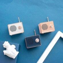Altavoz Bluetooth Vintage Mini bonito parlante con Bluetooth nostálgico bajo pesado 3D estéreo Surround HiFi efectos de sonido