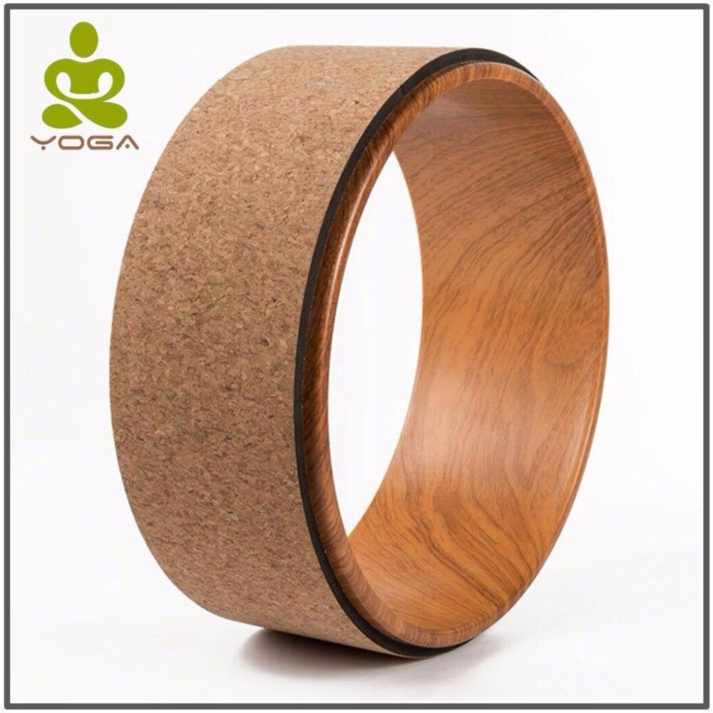 Bois Fait Nation Cercles De Yoga Pilates Professionnel Taille Forme Musculation Gym Workout roue de Yoga Retour outil de formation de Remise En Forme
