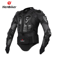 HEROBIKER New Men's Motorcycle Armor Full Body Motocross Racing Protective Gear Motorcycle Protection Black/ Red Jacket S-XXXL