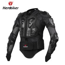 HEROBIKER Yeni erkekler motocross yarışı müttefiki suit ceket erkekler Yeni Moda Siyah ve Kırmızı Motosiklet Tam Vücut Zirh Ceket S-XXXL