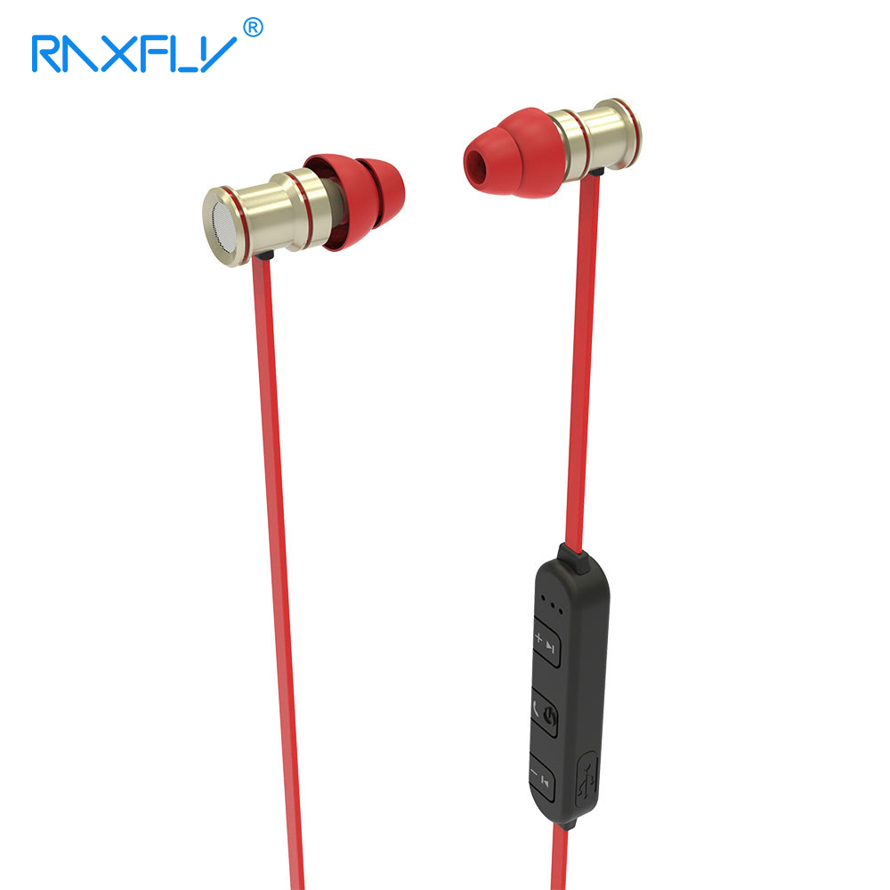 RAXFLY Wireless Sport Bluetooth Earphone for xiaomi iPhone Android Running Earphone Bass Mic Earbud Rock Headphones Headset NFC kz zs3 hifi earphone headset headphones metal heavy bass sound with without mic for android ios smartphone xiaomi iphone oppo pc