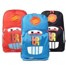 HOT SALE new arrival 3 colors Cars School bag Children backpacks kids Boys Girls baby bags